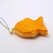 Taiyaki (small) Cell Phone Charm/Zipper Pull - Fake Food Japan