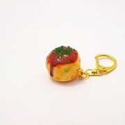 Takoyaki (Fried Octopus Ball) (small) Keychain - Fake Food Japan