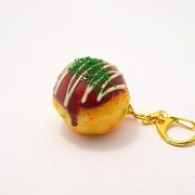 Takoyaki (Fried Octopus Ball) with Mayonnaise Keychain - Fake Food Japan