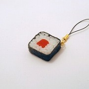 Tuna Roll Sushi Cell Phone Charm/Zipper Pull - Fake Food Japan