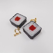 Tuna Roll Sushi Clip-On Earrings - Fake Food Japan