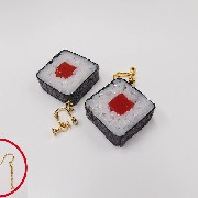 Tuna Roll Sushi Pierced Earrings - Fake Food Japan