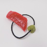 Tuna Sushi & Wasabi Hair Band (Pair Set) - Fake Food Japan