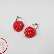 Umeboshi (Pickled Plum) (small) Pierced Earrings - Fake Food Japan