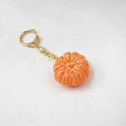Whole Peeled Orange (small) Keychain - Fake Food Japan