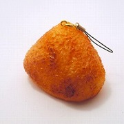Yaki Onigiri (Toasted Rice Ball) Cell Phone Charm/Zipper Pull - Fake Food Japan