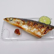 Yaki Sanma (Grilled Mackerel Pike) Head iPhone 6 Plus Case - Fake Food Japan