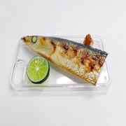Yaki Sanma (Grilled Mackerel Pike) Head iPhone 8 Case - Fake Food Japan