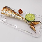 Yaki Sanma (Grilled Mackerel Pike) Tail iPhone X Case - Fake Food Japan