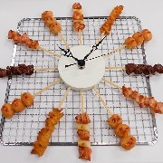 Yakitori (Grilled Chicken) Wall Clock