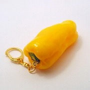 Yellow Pepper Keychain - Fake Food Japan