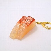 2 Cuts of Yellowtail Sashimi Keychain - Fake Food Japan