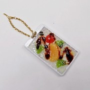 Anmitsu Dessert Pass Case with Charm Bracelet - Fake Food Japan