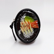 Avocado & Shrimp Rice Circular Purse - Fake Food Japan