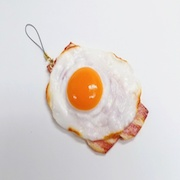 Bacon & Egg (large) Cell Phone Charm/Zipper Pull - Fake Food Japan