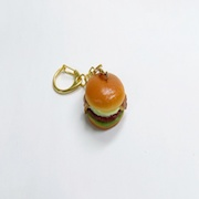 Bacon & Teriyaki Sauce Burger Keychain - Fake Food Japan