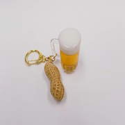 Beer (mini) & Peanut Keychain - Fake Food Japan