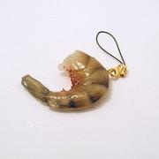 Black Tiger Shrimp Cell Phone Charm/Zipper Pull - Fake Food Japan