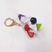 Blueberry Parfait (mini) Keychain - Fake Food Japan