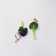 Broccoli (small) Clip-On Earrings - Fake Food Japan