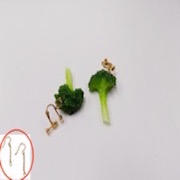 Broccoli (small) Pierced Earrings - Fake Food Japan