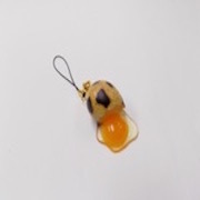 Broken Quail Egg Cell Phone Charm/Zipper Pull - Fake Food Japan