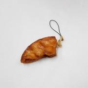 Broken Soy Sauce (Shoyu) Senbei (Japanese Cracker) Cell Phone Charm/Zipper Pull - Fake Food Japan