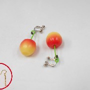 Cherry Pierced Earrings - Fake Food Japan