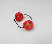Cherry Tomato (half-size) Hair Band (Pair Set) - Fake Food Japan