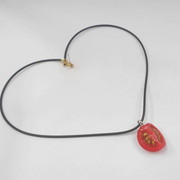 Cherry Tomato (quarter-size) Necklace - Fake Food Japan