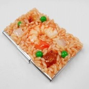 Chicken Rice with Shrimp Business Card Case - Fake Food Japan