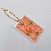 Chicken Rice with Shrimp Pass Case with Charm Bracelet - Fake Food Japan
