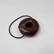 Chocolate Frosted Chocolate Doughnut (small) Hair Band - Fake Food Japan