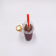 Cocoa with Whipped Cream (mini) Keychain - Fake Food Japan