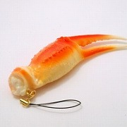 Crab Claw Cell Phone Charm/Zipper Pull - Fake Food Japan