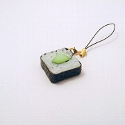 Cucumber Roll Sushi Cell Phone Charm/Zipper Pull - Fake Food Japan