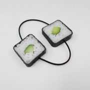 Cucumber Roll Sushi Hair Band (Pair Set) - Fake Food Japan