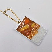 Curry Rice Pass Case with Charm Bracelet - Fake Food Japan