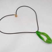 Cut Green Chili Pepper Necklace - Fake Food Japan