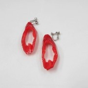 Cut Red Chili Pepper Clip-On Earrings - Fake Food Japan