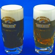 Dark & Light Draught Beer in Mugs Replica - Fake Food Japan