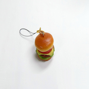 Deluxe Burger Cell Phone Charm/Zipper Pull - Fake Food Japan