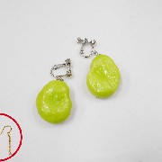 Fava Bean Pierced Earrings - Fake Food Japan