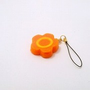 Flower-Shaped Carrot Ver. 1 Cell Phone Charm/Zipper Pull - Fake Food Japan