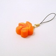 Flower-Shaped Carrot Ver. 2 Cell Phone Charm/Zipper Pull - Fake Food Japan