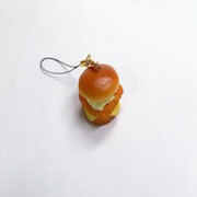 Fried Fish Burger Cell Phone Charm/Zipper Pull - Fake Food Japan