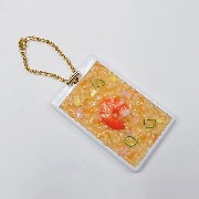 Fried Rice with Shrimp Pass Case with Charm Bracelet - Fake Food Japan