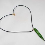Green Chili Pepper (mini) Necklace - Fake Food Japan