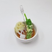 Green Pepper & Lotus Root Tempura Small Size Replica - Fake Food Japan