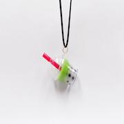 Green Tea (Matcha) Tapioca Drink (mini) Necklace - Fake Food Japan